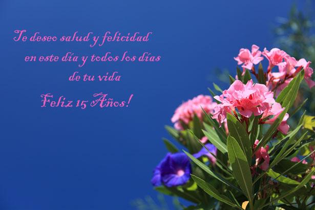 foto y frase bellas flores cumple 15